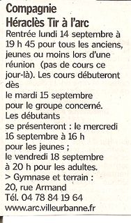 08-09-2009 Le Progres - Rentree 2009-2010