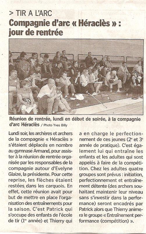 16-09-2009 Le Progres - Rentree 2009-2010