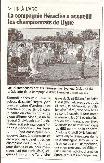 29-062010 Le Progres - Championnats de Ligue FÚderal
