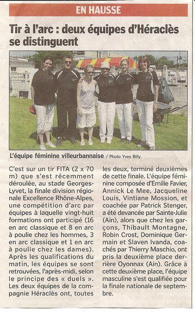 02-07-2010 Le Progres - DRE Finale DR Excellence
