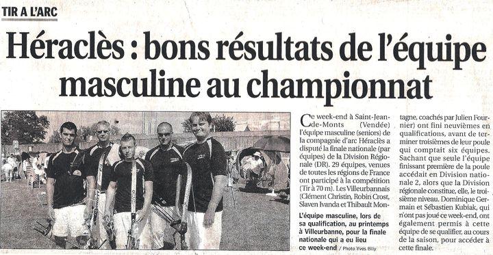 20-09-2010 Le Progres - DRE Finale nationale des DR