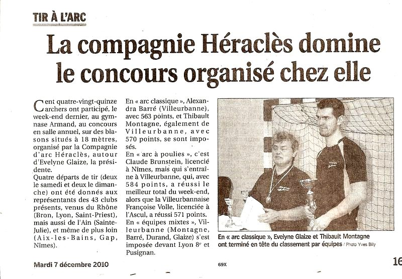 07-12-2010 Le Progres - Concours salle Villeurbanne