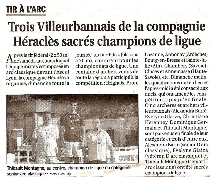 28-06-2011 Le Progres - Championnat de Ligue FITA