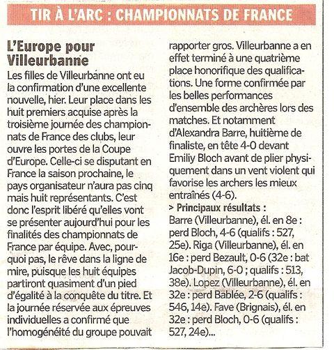 28-08-2011 Le Progres - D1 Championnat de France