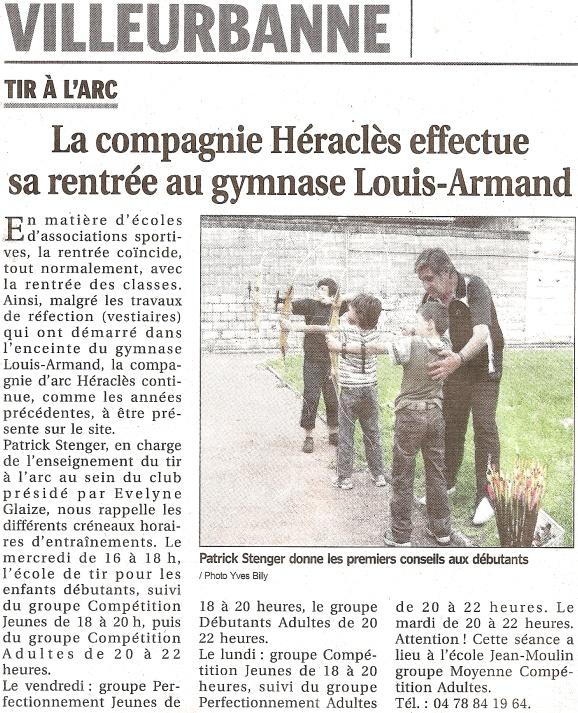 09-09-2011 Le Progres - Rentree 2011 - 2012