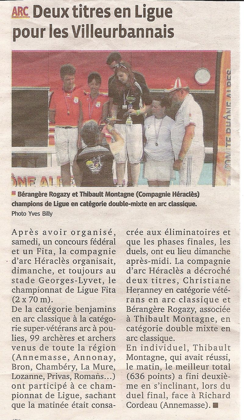 26-06-2012 Le Progres - Championnat de Ligue FITA