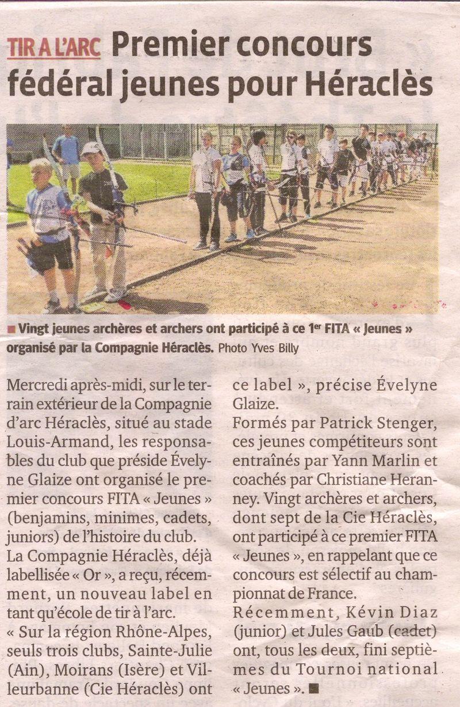 16-05-2015 Le Progres - FITA Jeune